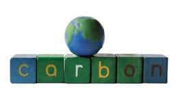 Monde de carbone Photographie stock