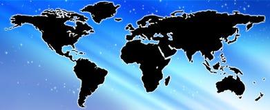monde de carte Image libre de droits