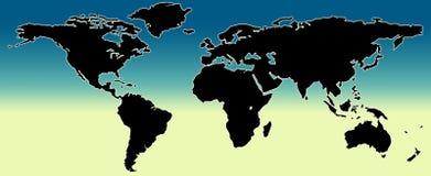 monde de carte Images libres de droits