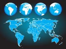 monde de carte Images stock