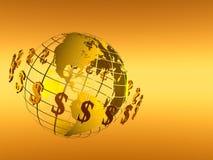 Monde de circulation de réseau du dollar Photographie stock