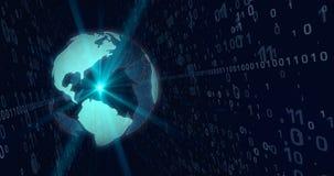 Monde de concept de technologie numérique illustration de vecteur