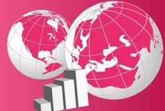 monde de dessin de globes de diagramme illustration stock