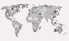 Monde de Digital Photo libre de droits