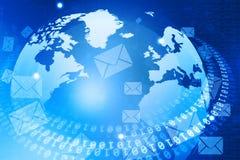 Monde de Digital avec la distribution d'email illustration libre de droits