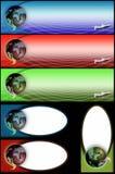 monde de drapeaux Image stock