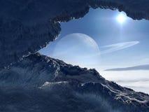 Monde de glace Photo libre de droits