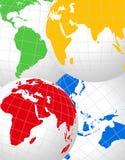 monde de globes illustration libre de droits