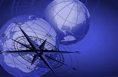 monde de globes de compas illustration libre de droits