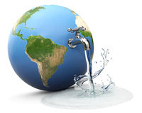 Monde de l'eau Photo libre de droits