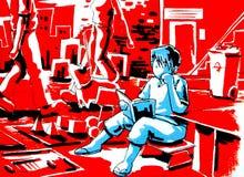 Monde de livre de relevé de garçon d'imagination Image libre de droits