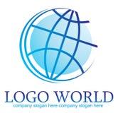 Monde de logo Photographie stock libre de droits