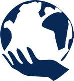 Monde de main Images libres de droits