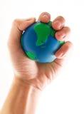 monde de main votre Photographie stock libre de droits
