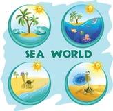 Monde de mer Image libre de droits