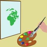 Monde de palette de couleur Image stock