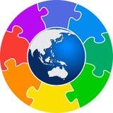 Monde de puzzle Photographie stock