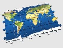 Monde de puzzle Photographie stock libre de droits