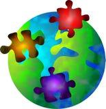 Monde de puzzle Photo libre de droits