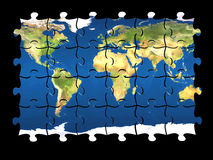 Monde de puzzle d'isolement Image stock