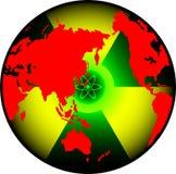 Monde de rayonnement Photos libres de droits