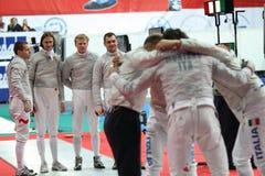 Monde de sabre de Moscou clôturant le tournoi Image libre de droits