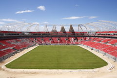 monde de stade de football de cuvette Images libres de droits