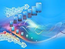 Monde de téléphone mobile Image libre de droits