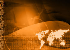 monde de technologie de type de carte Photos libres de droits