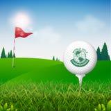Monde de tournoi de golf de concept de vecteur de golf illustration libre de droits