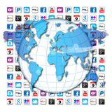 Monde de transmission d'Apps Photographie stock libre de droits