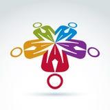 monde de vecteur d'équipe d'illustration de concept d'affaires d'affaires Image libre de droits