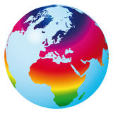 monde de vecteur d'arc-en-ciel Photographie stock