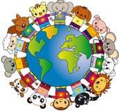 Monde des animaux illustration libre de droits