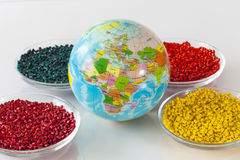 Monde des plastiques Photo stock