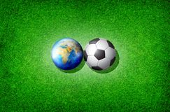 monde du football de cuvette Photos libres de droits