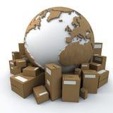 Monde emballé Photo stock