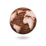 Monde en bois Photo stock