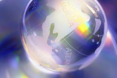 Monde en verre Photo libre de droits