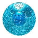 Monde en verre abstrait Images stock