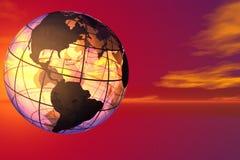Monde et ciel Photographie stock