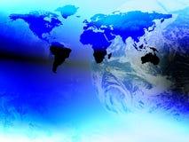 Monde et continent Photo libre de droits