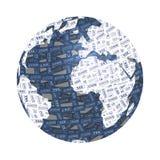 Monde et Internet Image libre de droits