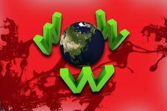 Monde et WWW Image stock