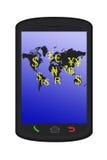 Monde financier dans le téléphone intelligent illustration libre de droits
