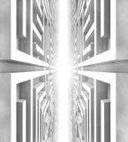 monde futuriste de labyrinthe Photo stock