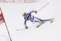 monde géant de slalom de ski de cuvette alpestre d'Alta Badia Photos stock