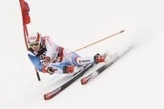 monde géant de slalom de ski de cuvette alpestre d'Alta Badia Images libres de droits