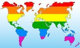 Monde gai Image libre de droits