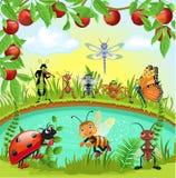 Monde heureux d'insectes Photo libre de droits